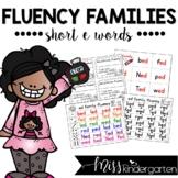 Fluency Families {short e words}