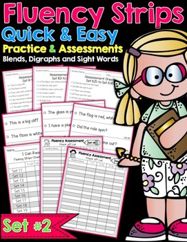 Fluency Strips Set 2 - Quick and Easy Practice and Assessment