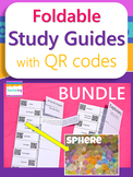 Foldable Study Guides with QR Codes BUNDLE {Links to Vivid