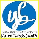 Fonts Bundle (101 in total) YB (Yara Boustani) Fonts