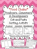 Food Chains Producers, Consumers, and Decomposers Cut and