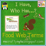 Food Chains and Food Webs - I Have, Who Has Cards