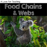 Food Chains and Webs No Prep Resources