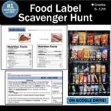 Food Label Scavenger Hunt Lesson: Worksheet + 42 Food Labe