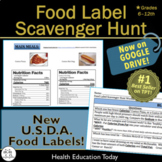 Health Lesson: Food Label Scavenger Hunt - Worksheet + 42