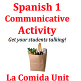 Food Unit Spanish 1 Speaking Activity