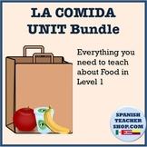 Food Vocabulary Unit for Spanish: Worksheets, Quiz