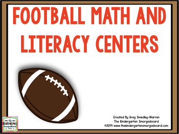 Football!  A Super Bowl Of Math and Literacy!  A Common Co