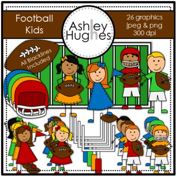 Football Kids {Graphics for Commercial Use}