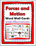 Forces and Motion Word Wall Cards Set with Illustrations