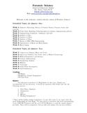 Forensic Science Syllabus