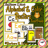 Forest Friends Alphabet and Color Posters