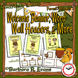 Forest Friends Welcome Banner and Word Wall Headers