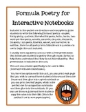 Formula Poetry Unit for Interactive Notebooks
