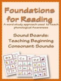 Foundations for Reading: Sound Boards (initial consonant sounds)