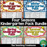 Four Seasons Kindergarten Pack Bundle ~ Print & Go ~ CCSS Aligned