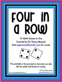 Four in a Row - Math Computation Games