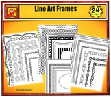 Black and White Borders and Frames Value Pack