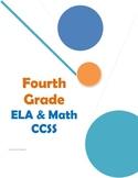 Common Core Checklist Fourth Grade ELA and Math