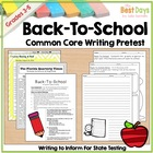 Back-To-School Common Core Writing Pretest
