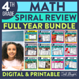 Fourth Grade Homework / Morning Work for MATH-WHOLE Year S