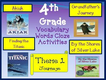 4th Grade Theme 1 Fill in the Blank Worksheets Aligned wit