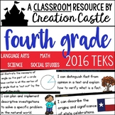 Fourth Grade TEKS Bundle - I Can... and We will... Standar
