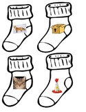 Fox in Socks rhyming center inspired by Dr. Seuss matching