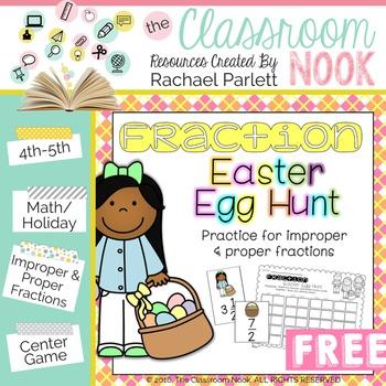 Fraction Easter Egg Hunt {Converting Improper and Mixed Fr