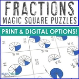 Fraction Magic Square Puzzles