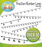 Fraction Math Number Lines Clipart — Over 30 Graphics