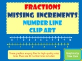 Fraction Number Line Missing Increments Clip Art - Commerc