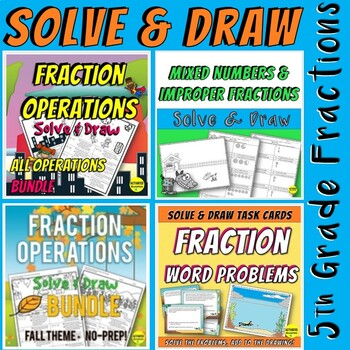 Fraction Operation Solve & Draw BUNDLE - All Operations