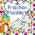 Fraction Puzzlers: Math Center Game