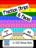 Fraction Strips and Pieces - 40 Clip Art Graphics
