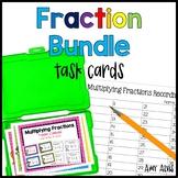 Fraction Task Card Bundle - Add Subtract Multiply Divide