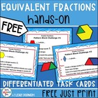 Free Fraction Task Cards for Centers