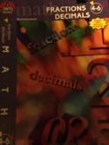 Fraction and Decimals Workbook by Milliken Grades 4-6
