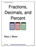Fractions, Decimals, Percent