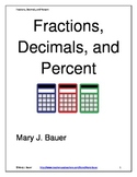 Fractions, Decimals, Percent