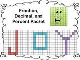 Fractions, Decimals, Percents using Names