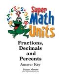 Fractions, Decimals and Percents Unit