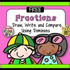 Fractions - Draw, Write, and Compare using Dominoes FREE