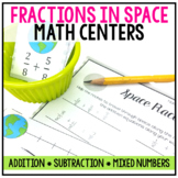 5th Grade Fraction Centers: Fractions in Space Themed