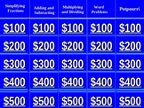 Fractions Jeopardy (Adding/Subtracting, Multiplying/Dividing)