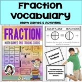 Fractions-Math Vocabulary Trading Cards-Math Games and Les