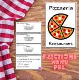 Fractions Menu Project - CCSS