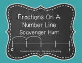 Fractions On A Number Line Scavenger Hunt Activity...FUN!