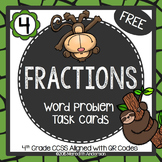 Fractions Word Problem Task Cards FREEBIE