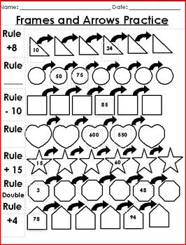 Frames and Arrows Worksheet
